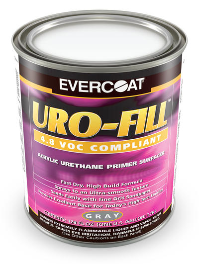 Uro-Fill Uret. Primer Surfacer, Gray, Gal.