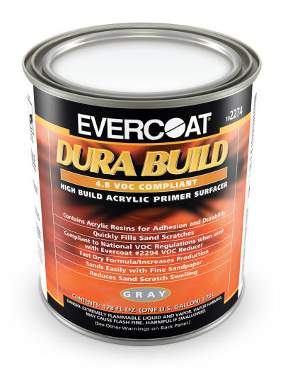 Dura Build Acrylic Primer, Gray, Gallon